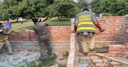 শ্রীপুরে বনের জায়গায় অবৈধ স্থাপনা উচ্ছেদ করেছে বন বিভাগ