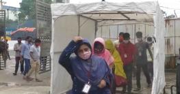 গাজীপুরে স্বাস্থ্যবিধি মেনে চলছে পোশাক কারখানা