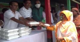 গাজীপুরের কালিয়াকৈরে বন্যার্তদের মাঝে ত্রাণ সামগ্রী বিতরণ