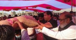 গাজীপুরে ক্ষতিগ্রস্ত কলোনি পরিদর্শনে মুক্তিযুদ্ধ বিষয়ক মন্ত্রী