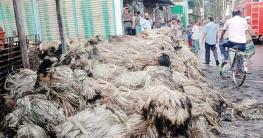 কালীগঞ্জে একটি পাটের গুদামে অগ্নিকাণ্ড, প্রায় ৩২ লাখ টাকার ক্ষতি