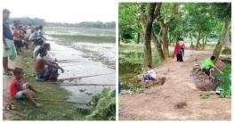 কালীগঞ্জে মাছ শিকারের উৎসব
